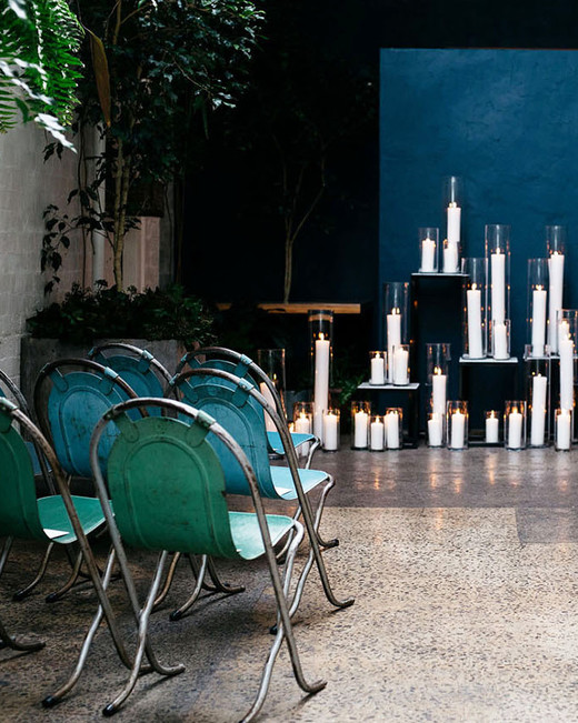 green wedding ideas hails and shine ceremony seating