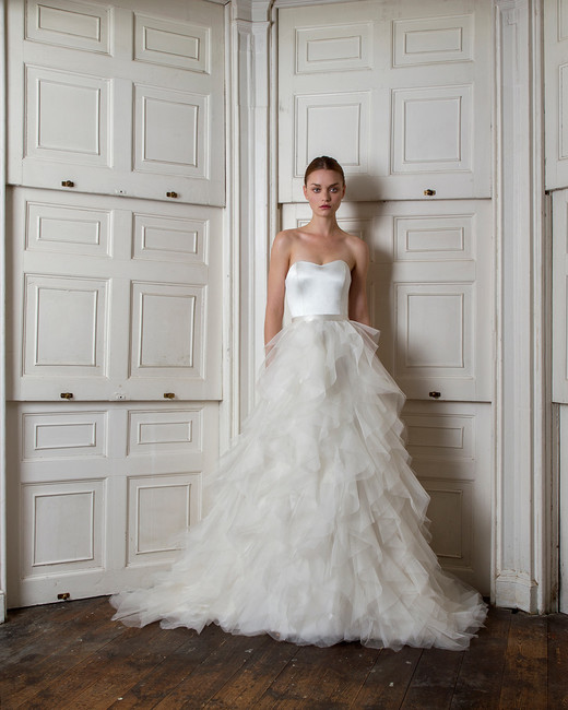 halfpenny london fall 2019 ruffled ball gown sweetheart strapless tulle