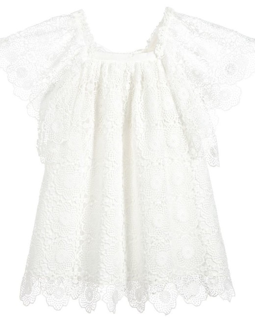 white lace flower girl dress Phi Clothing