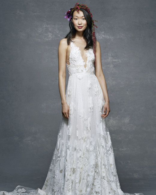 marchesa notte bridal wedding dress illusion v-neck