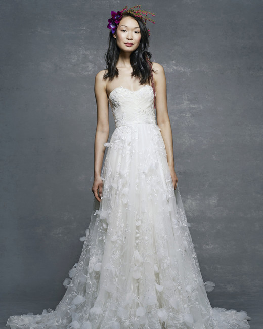 marchesa notte bridal wedding dress off-the-shoulder sweetheart
