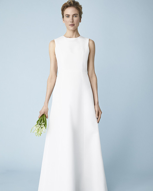 jewel neckline a-line Molly Mookkamp Spring 2020 wedding dress