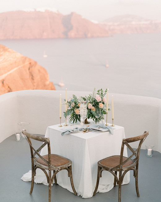 private balcony at Mystique Hotel Santorini