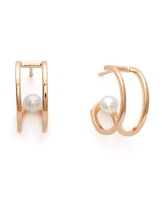 pearl wedding earrings anna sheffield hoop