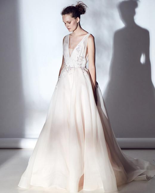 rivini v-neck a-line embellished wedding dress spring 2018