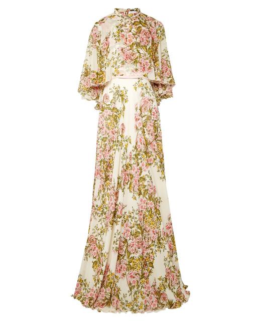 Giambattista Valli Cape-Effect Dress