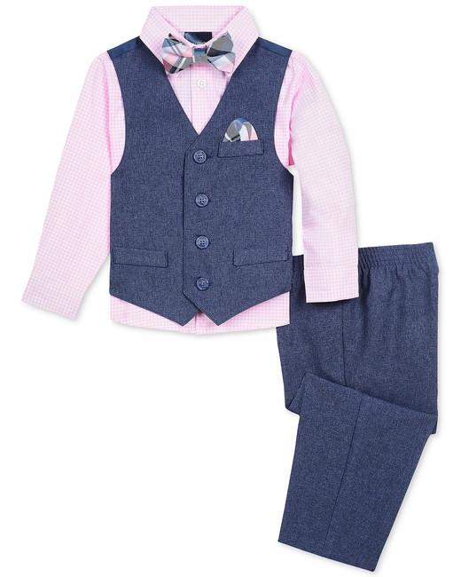 Nautica heather poplin vest set