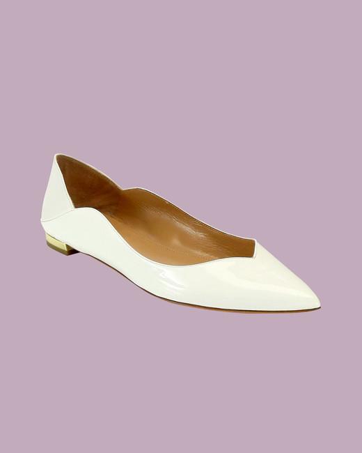 """Aquazurra """"Zen"""" Patent Leather Ballet Flats"""
