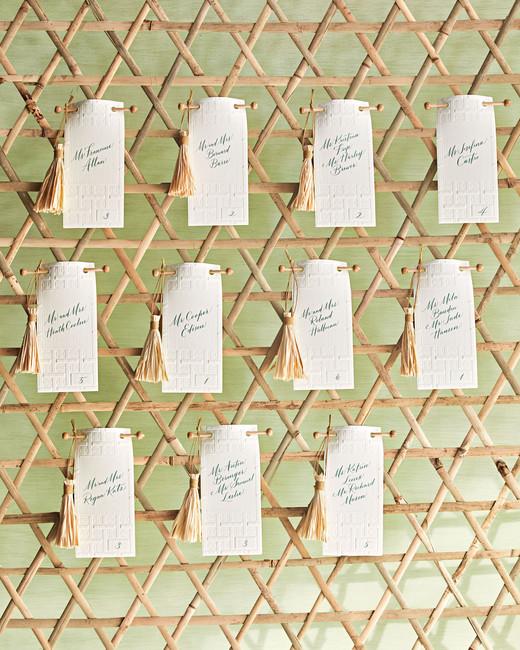 woven bulletin board escort cards