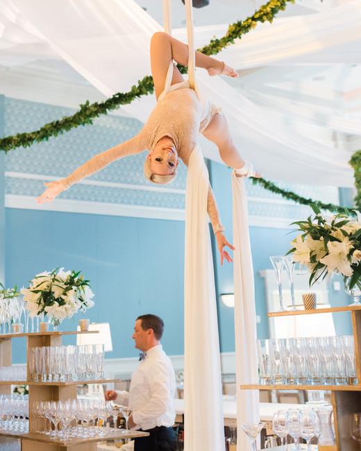 trapeze artists cocktail hour entertainment