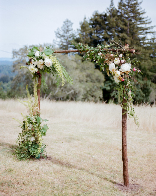 amanda chase wedding floral ceremony arch