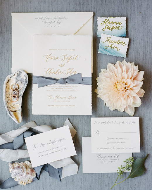 beach wedding invitations ocean waves