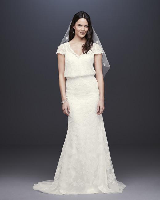 davids bridal melissa sweet fall 2019 mermaid v neck cap sleeve beaded lace overlay