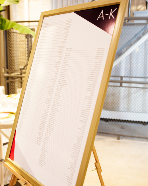 minimalistic white board seating chart