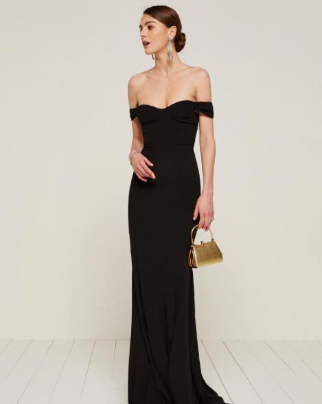 off the shoulder long dress
