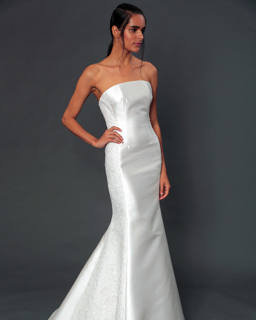 isabelle armstrong fall 2019 strapless mermaid wedding dress