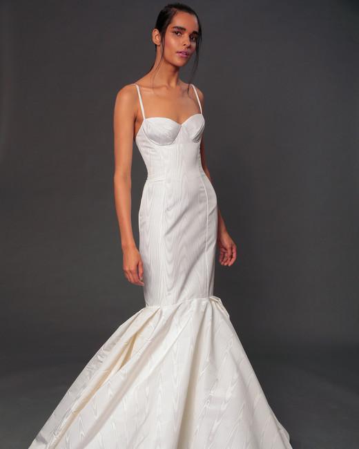 isabelle armstrong fall 2019 spaghetti strap mermaid wedding dress