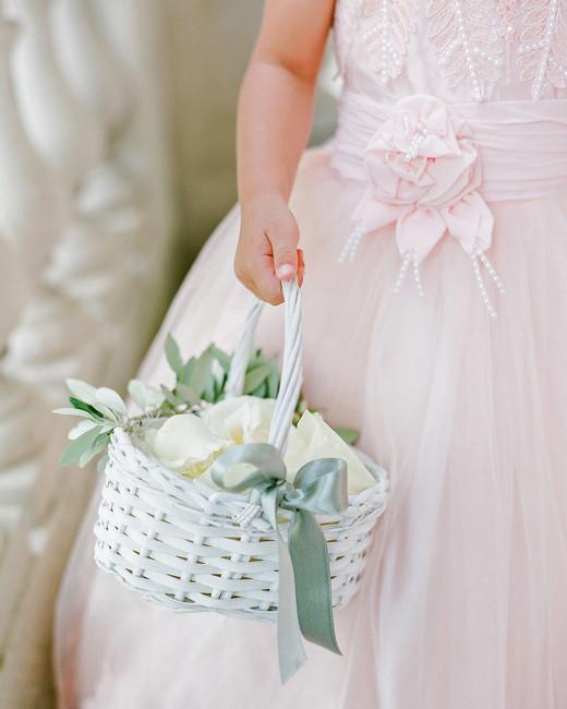 julia mauro wedding flower girl holding basket