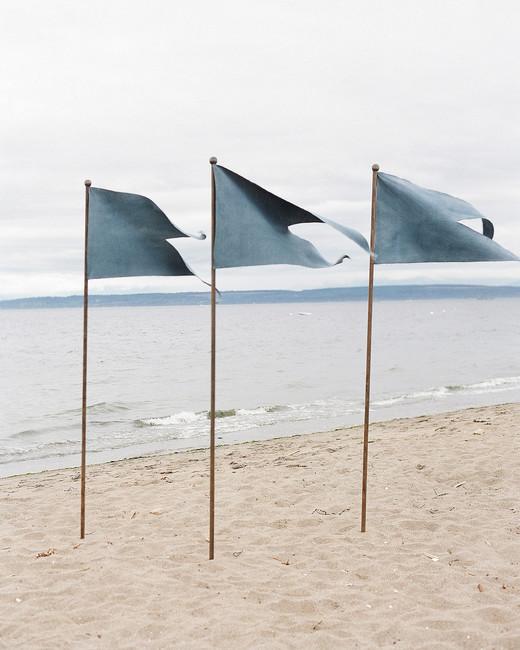 kaitlin dan wedding flags