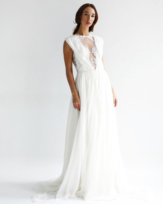 leanne marshall wedding dress spring 2019 sleeveless a-line illusion v-neck