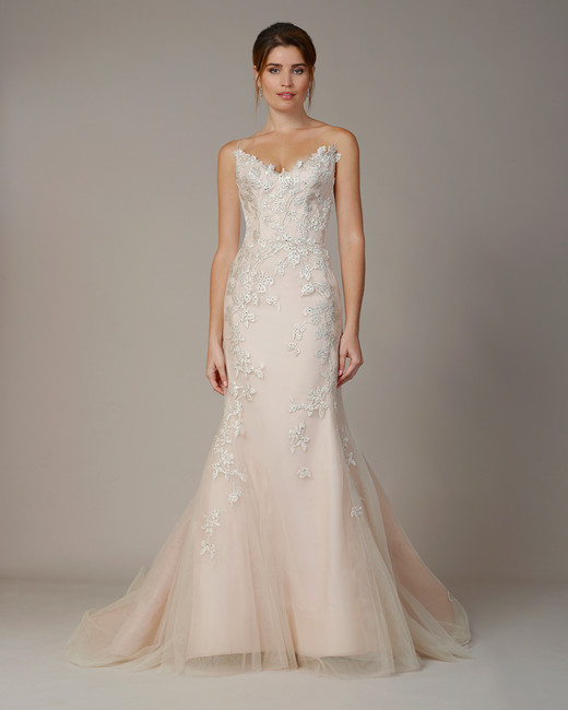 liancarlo wedding dress fall 2018 v-neck blush strapless