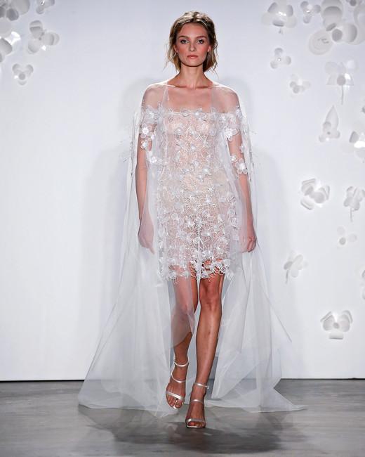 mira zwillinger short off-the-shoulder wedding dress spring 2020