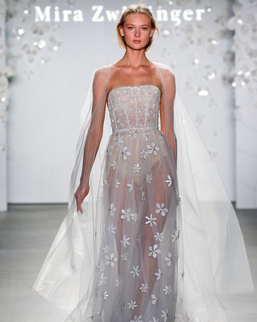 mira zwillinger strapless floral embroidered wedding dress spring 2020