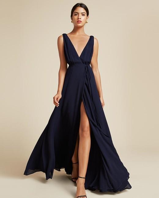 navy bridesmaid dress