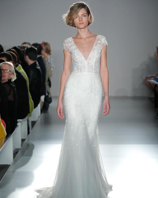 nouvelle amsale short sleeve v-neck mermaid wedding dress spring 2020