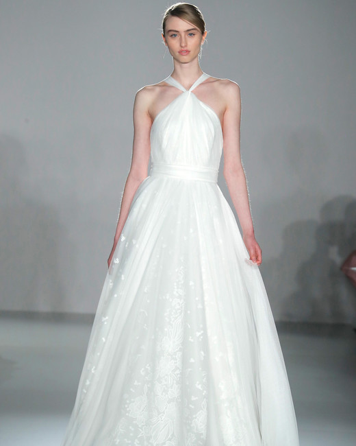 5208ea22934 nouvelle amsale halter a-line wedding dress spring 2020