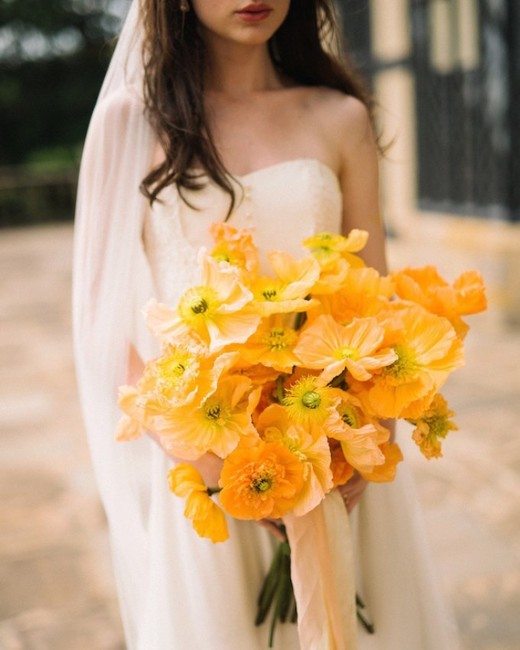 poppy bouquets lauren love photography orange