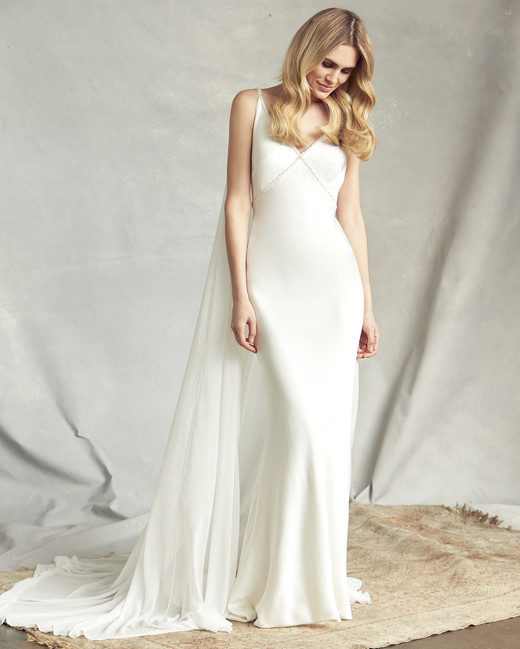 savannah miller spaghetti strap mermaid wedding dress spring 2020