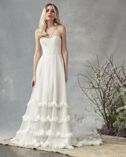 savannah miller a-line with ruffles wedding dress spring 2020