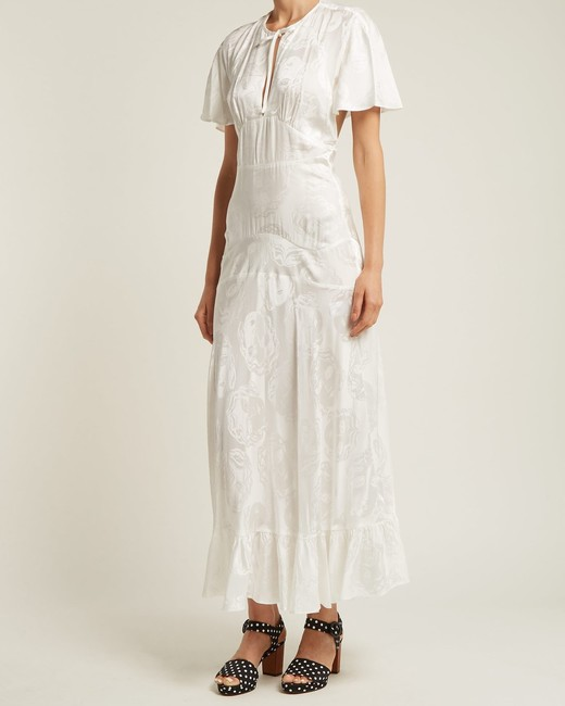 alexa chung silk blend jacquard dress