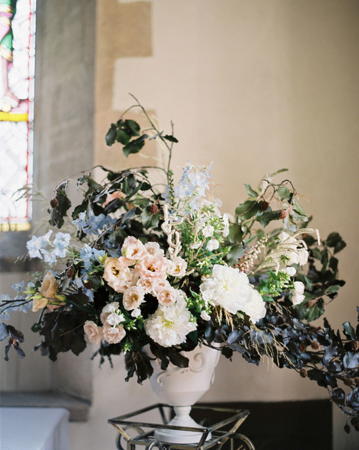 wedding ceremony floral arrangement
