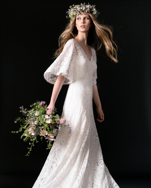 temperley wedding dress fall 2018 long sleeve lace a-line