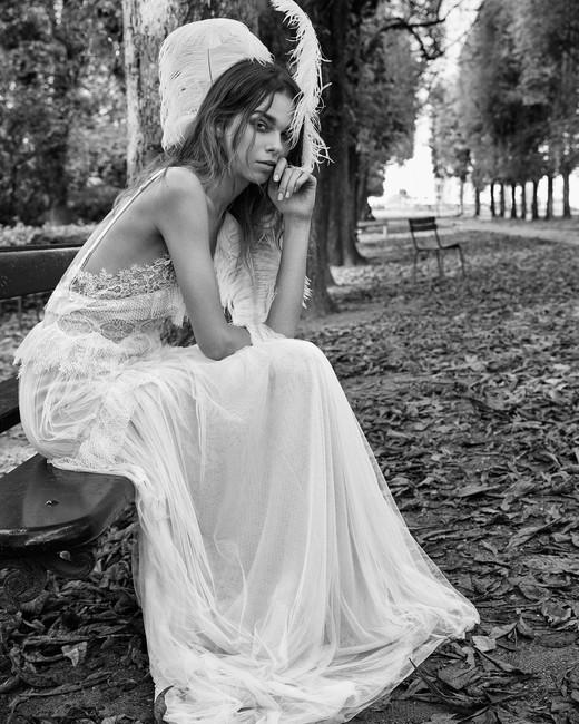 vera wang fall 2018 lace sheer spaghetti strap wedding dress