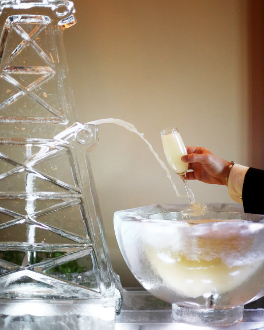 wedding ice sculpture groom cake alternative drink serving station
