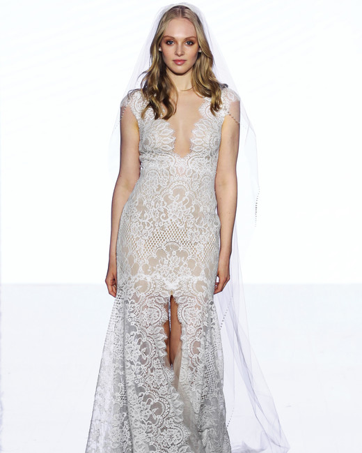 wtoo by watters cap sleeves lace high slit wedding dress spring 2020