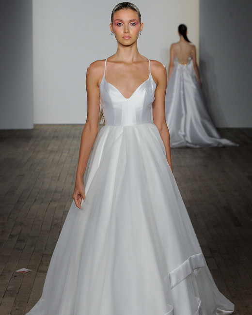 blush hayley paige fall 2019 spaghetti strap v-neck a-line gown