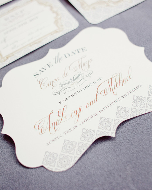 classic save the dates unique shape