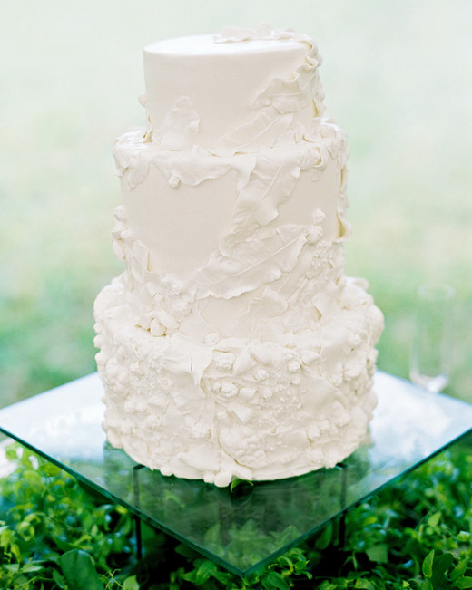 dani jackson wedding white textured cake