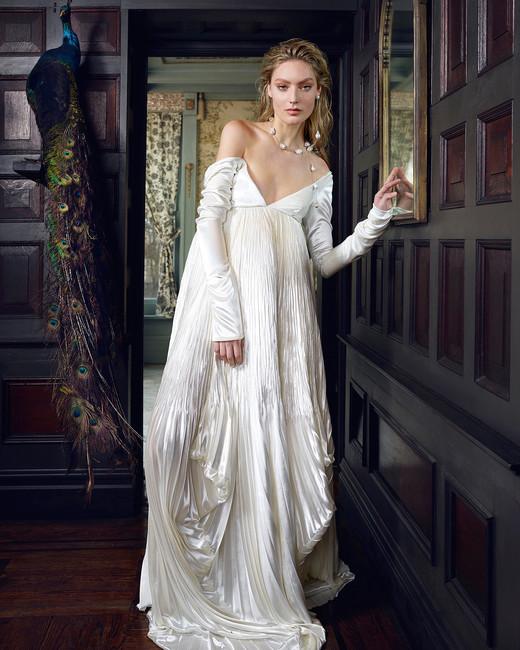 danielle frankel wedding dress spring 2019 off-the-shoulder long-sleeve