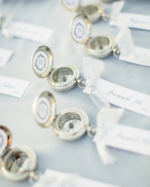 destination wedding favors compass