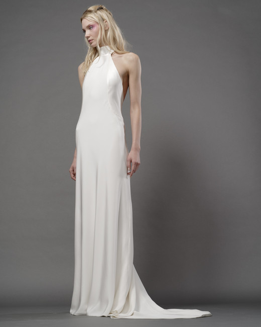 elizabeth fillmore fall 2019 flowly sheath halter sleeveless minimalist