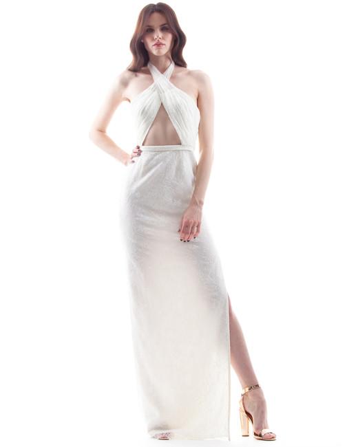 houghton wedding dress spring 2018 with halter neckline