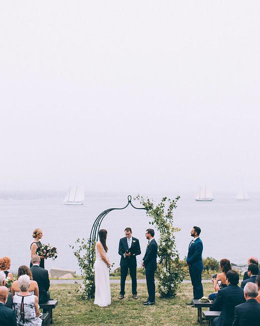 wedding ceremony ocean ship