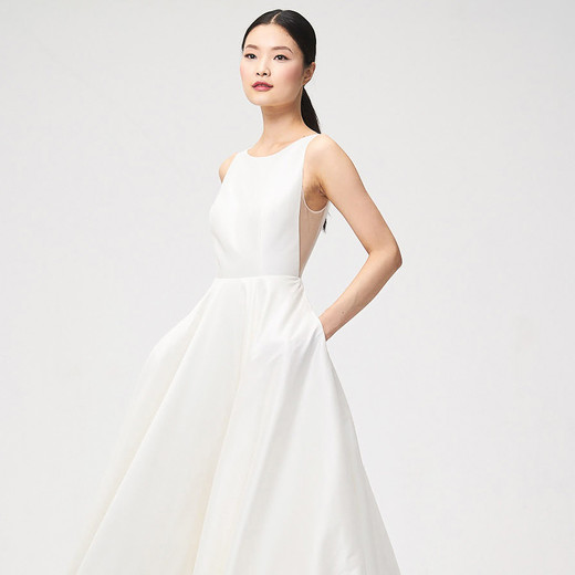 jenny by jenny yoo fall 2018 open side boat neck wedding dress