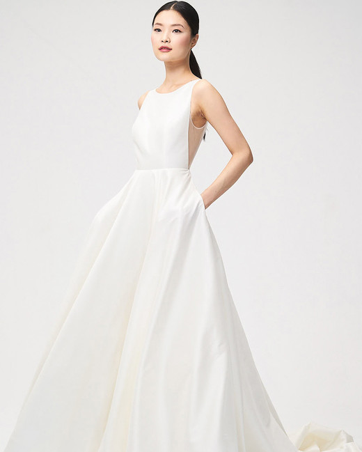 Jenny By Yoo Fall 2018 Open Side Boat Neck Wedding Dress