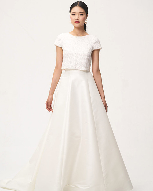 jenny by jenny yoo fall 2018 two piece cap sleeve wedding dress